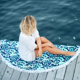 circle beach towels