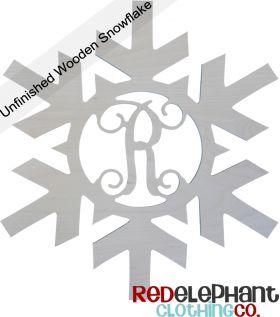 Unpainted Wooden Snowflake