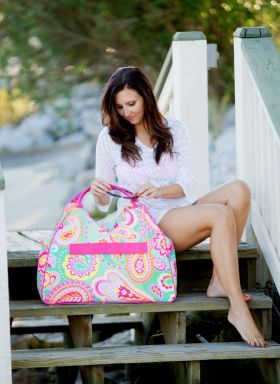 personalized beach bag with zipper