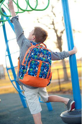 monogrammed backpacks for boys