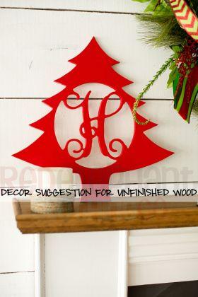 Wooden Monogram Christmas Tree